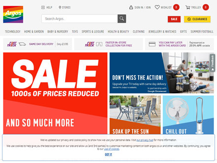 Argos Catalogue Website