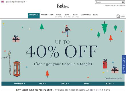 Boden Catalogue Website