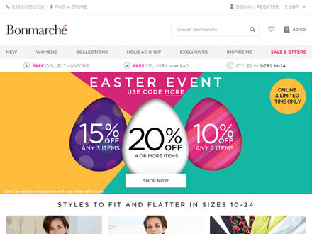 Bonmarché Catalogue Website