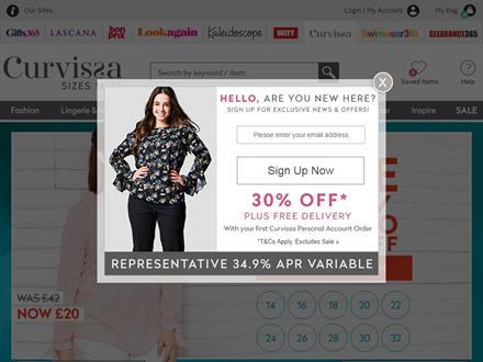 Curvissa Catalogue Website