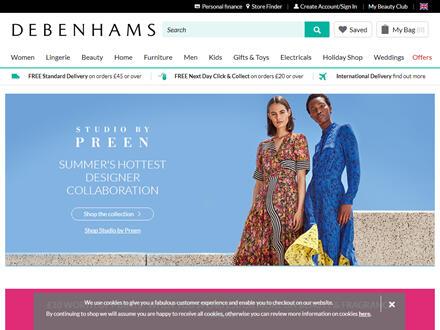 Debenhams Catalogue Website