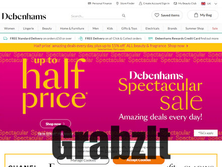 Debenhams Catalogue Website