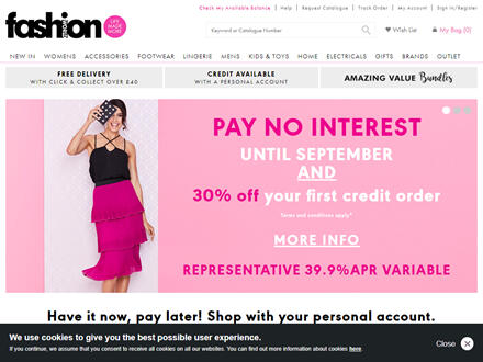 Fashion World Catalogue Website