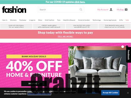 fashion world website homepage