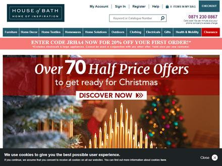 House Of Bath Catalogue Website