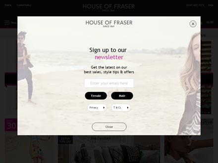 House Of Fraser Catalogue Website