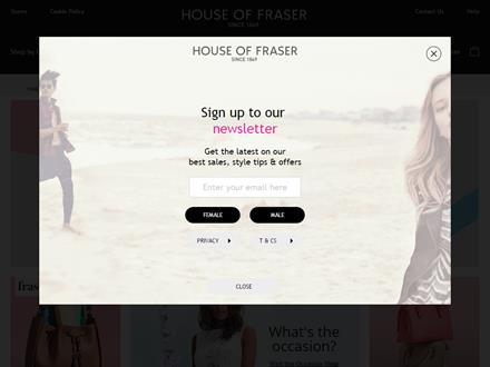 House Of Fraser Catalogue Website