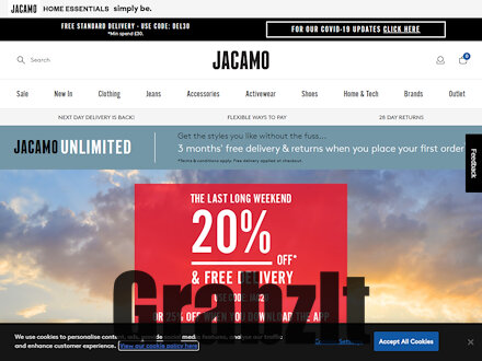 jacamo website homepage