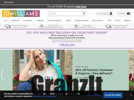 JD Williams Catalogue Website