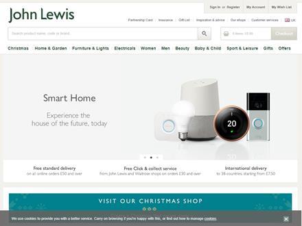 John Lewis Catalogue Website