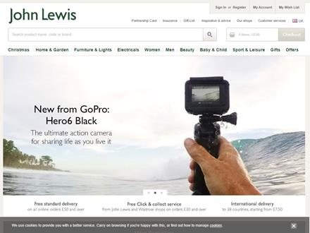 John Lewis Catalogue Website