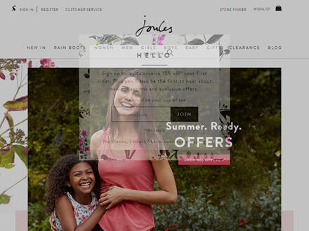 Joules Catalogue Website