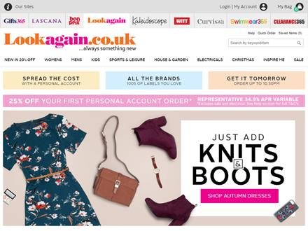 Look Again Catalogue Website