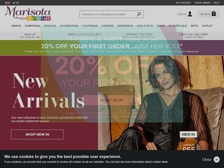 Marisota Catalogue Website