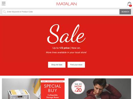 Matalan Voucher Codes Matalan Black Friday Deal Save 50% Off Everything. Click Here to Get Deal. Enter this code at the checkout. none required. blog posts all you need to do is team that great advice with Matalan discount codes to be trully inspired while saving money.