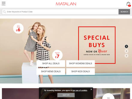 Matalan Catalogue Website