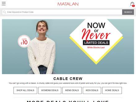 Matalan Catalogue Website