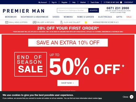 Premier Man Catalogue Website