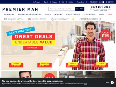 Premier Man Catalogue Website