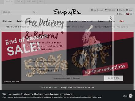 Simply Be Catalogue Website