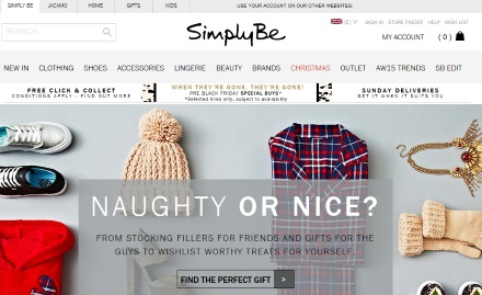 SimplyBe Catalogue Website