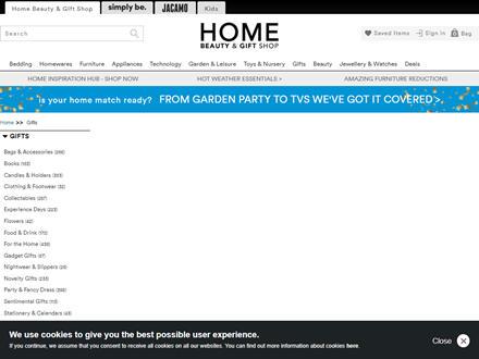 The Brilliant Gift Shop Catalogue Website