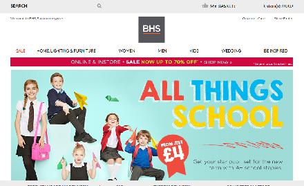 BHS Department Store Website