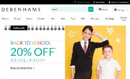Debenhams Department Store Website