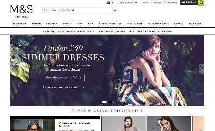 Marks and Spencer Department Store Website